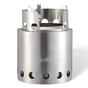 Solo Stove Wood Burning Emergency Stove w/ Aluminum Windscreen - Light Weight Compact Design Perfect for Survival, Camping, Hunting & Backpacking.