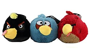 Angry Birds Plush Ball Launcher Dog Toys ~ 3-Pack
