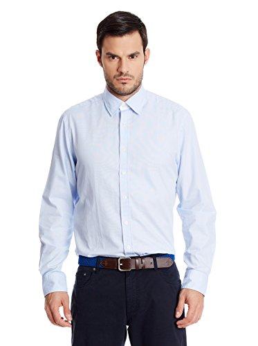 Hackett London Micro Grid Multi Trim -  Camisa casual para hombre Celeste talla L