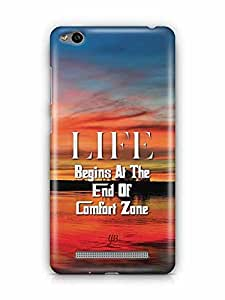 YuBingo Life Begins at the end of Comfort Zone Designer Mobile Case Back Cover for Xiaomi Redmi 3S