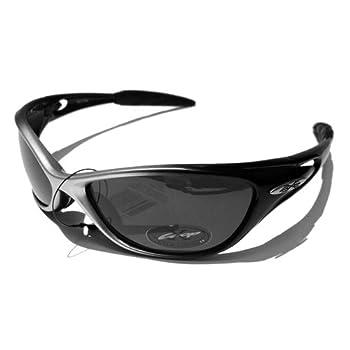 X-Loop Lunettes de Soleil - Sport - Cyclisme - Ski - Conduite - Moto - Plage / Mod. 1170 Gris Noir / Taille Unique Adulte / Protection 100% UV400
