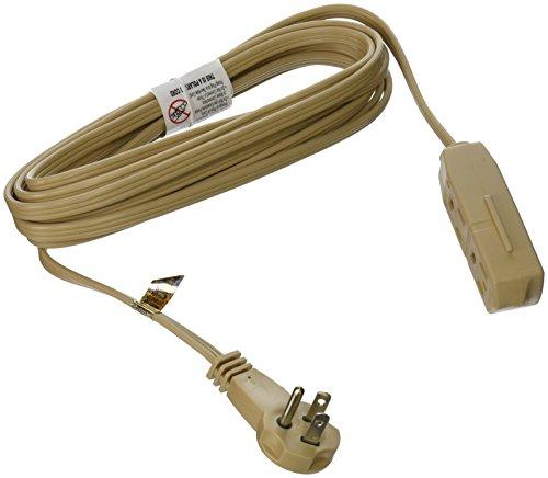slimline 2255 flat plug extension cord 3 wire beige 13 foot. Black Bedroom Furniture Sets. Home Design Ideas