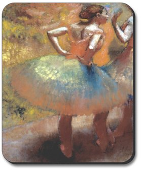Decorative Mouse Pad Degas Dancers in Green Skirts