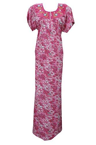 Women's Long Maxi Dress Nightgowns Cotton Pink Printed Muumuu Kaftans xxxL ...