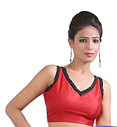 Abida Red Colour Party wear designer blouse