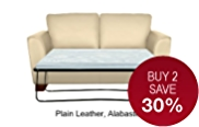 Urbino Medium Sofa Bed - Leather