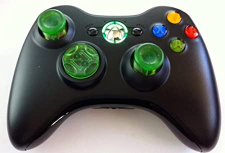 Drop Shot, Auto-aim, Xbox 360 Modded Controller for COD Black Ops 2, Mw3, Mw2, Rapid Fire Mod(clear Green)