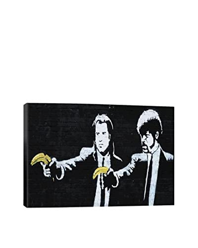Banksy Pulp Fiction Bananas Giclée On Canvas