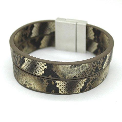 Bersense Fashion Jewelry Simple Style Snake Leather Bracelet