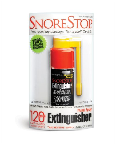 Snorestop Extinguisher, 0.4 Oz -Plastic Case