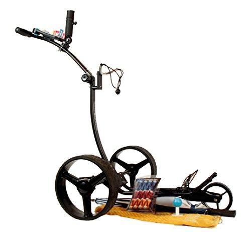 Yorrx® Slim Lion Pro 5 PLUS (schwarz/black) Golftrolley/Golfwagen/Golf Cart; AKTION: REGENSCHIRMHALTER GRATIS