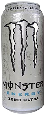 Monster Energy Drink, Zero Ultra, 16 Ounce (Pack of 24)