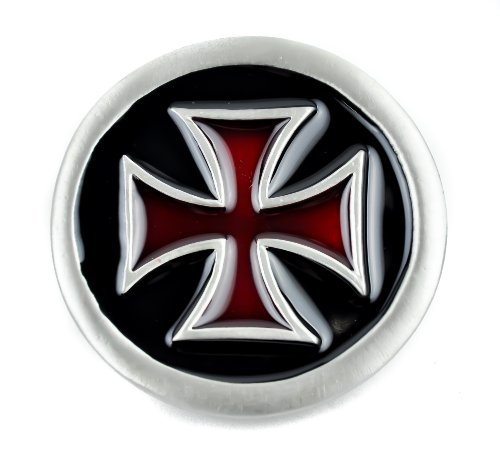 Black Red Iron Cross Belt Buckle