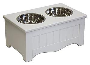 APetProject Small Pet Food Server & Storage Box,Winter White