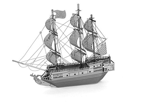 MetalEarth 3D Metal Model - Black Pearl Pirate Ship (3d Models compare prices)