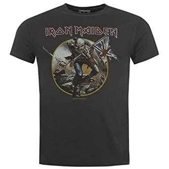 Amplified Clothing Mens I Maiden Troop T Sn40 Charcoal S