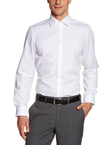 Daniel Hechter - Camisa ancho de manga larga para hombre, Blanco (white 1), X-Large