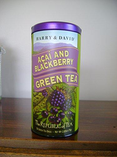 The Republic Of Tea, Acai & Blackberry Green Tea (Harry & David), 50 Count