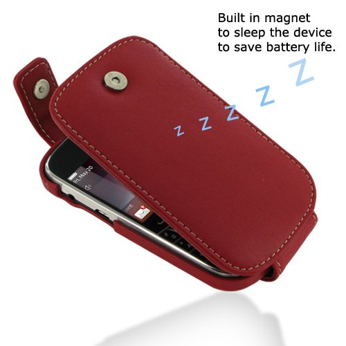 PDair T41 Red Leather Case for BlackBerry Bold 9900 9930