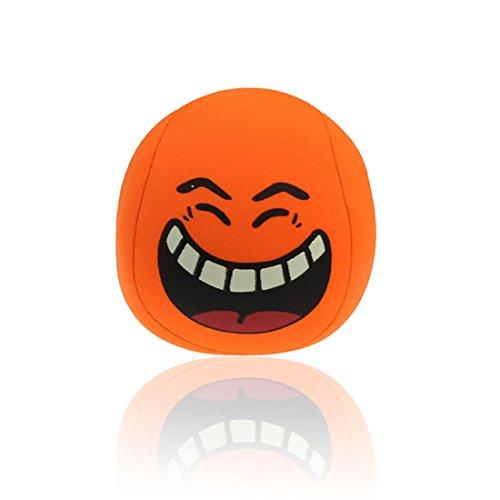 Ukamshop niedlich emoji smiley Kissen Weichen Cartoon Kissen Spielzeug 10 * 10cm (orange)