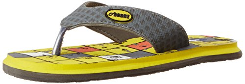 Beanz Boy's Tiles Soil Yellow Leather Flip-Flops And House Slippers - 13Kids UK/India (32 EU)(1 US)