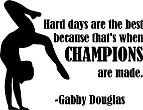Amazoncom Gabby Douglas Gymnastic Quote Champions Vinyl Wall