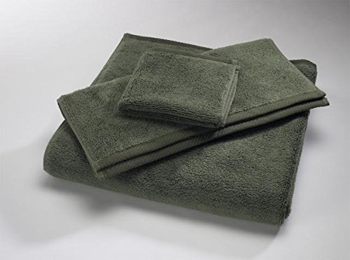Home Source International MicroCotton Luxury Tub Mat Towel, Moss Green