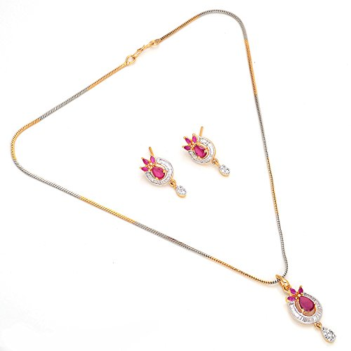 Red Jewar Gold-Plated Pendant Women Red (Yellow)