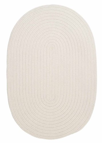 Indoor/Outdoor American Made Textured Rug 3-Feet by 5-Feet Oval White Carpet