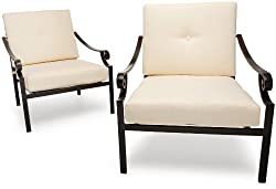 Strathwood Falkner Lounge Deep Seat Arm Chair, Set of 2