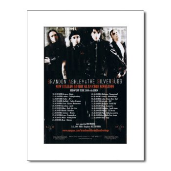 BRANDON ASHLEY AND THE SILVERBUGS European Tour 2009 15x12in Matted Music Print - White