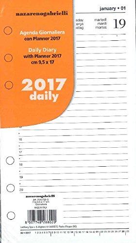 Ricambio 2017 per agenda organizer 9,5x17 giornaliero