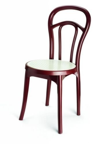 Nilkamal Series 4040 Chair (Maroon and Cream)