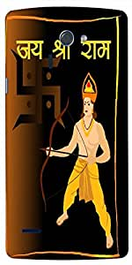 Timpax Protective Hard Back Case Cover With access to all controls and ports Printed Design : swastika with lord rama.For LG-G-4
