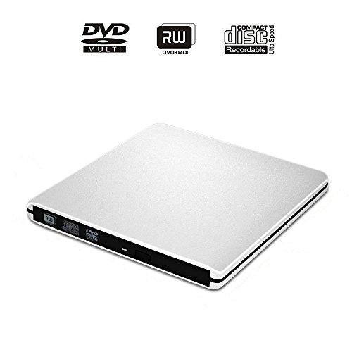 USB 3.0 DVD RW Drive, E-More External CD DVD Drive USB3.0 Ultra Slim Portable DVD Rewriter Burner CD/DVD-RW Writer Burner for Apple Mac Macbook Pro and other Laptop Desktops (Dvd Burner Portable compare prices)