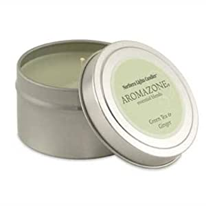 Northern Lights Candles - AromaZone Travel Candle - Green Tea & Ginger