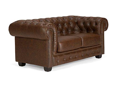 Massivum-10017070-Chesterfield-Sofa-2Sitzer-Vintage-Echtleder-Leder-braun-95-x-172-x-77-cm