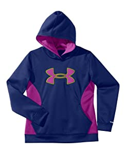 Under Armour Big Girls' Armour® Fleece Storm Big Logo Hoodie YXS BLU-AWAY