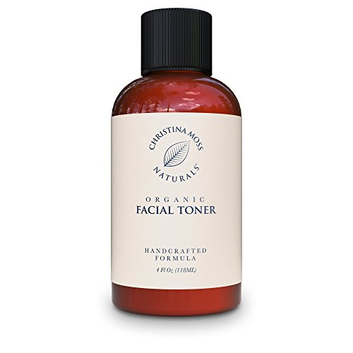 Facial Toner, Organic and 100% Natural Face Toner for All Skin Types. Clearing, Refines, Tightens Pores, Hydrates & Restores pH. No Harmful Chemicals or GMOs. Christina Moss Naturals (4oz Unscented). (Natural Aging compare prices)