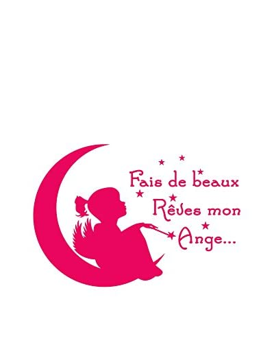 Ambiance-sticker Wandtattoo Kids French Quote Fais De Beaux Rêves Mon Ange