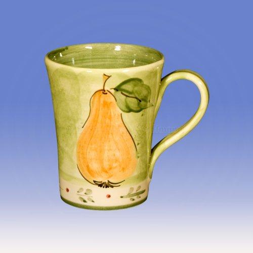Keramik Becher Mela e pera Birnenmotiv (I5/3)