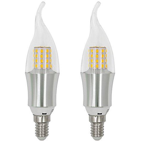 MENGS® 2 Stück E14 LED Kerze Lampe 9W Kaltweiß 6500K AC 85-265V Mit Aluminium Körper und ABS Mantel