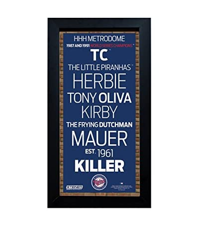 Steiner Sports Memorabilia Framed Minnesota Twins Subway Sign