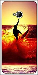 Snoogg Surfer Style Designer Protective Back Case Cover For HTC M7