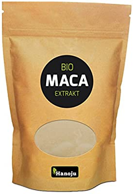 Hanoju MACA Pulver, 1000 g, 4:1 Extrakt, Bio-zertifiziert, 1er Pack (1 x 1 kg) von Hanoju auf Gewürze Shop