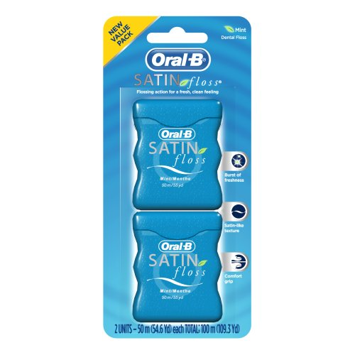 Oral-B Satin Floss Twin Pack, 2-Count (Pack of