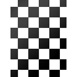 Black & White Tile Floordrop - 4ft x 5ft