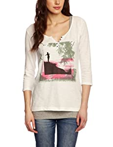 O'Neill Luna T-Shirt femme Powder White FR : 36 (Taille Fabricant : S)