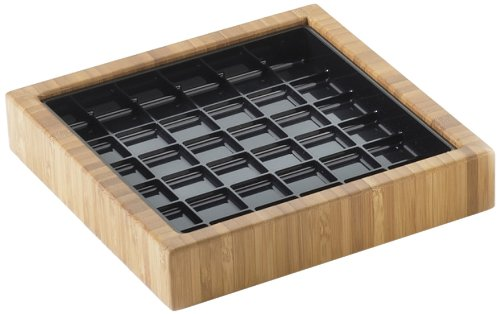 "Cal-Mil 330-6-60 Square Bamboo Drip Tray, 6""X6"""
