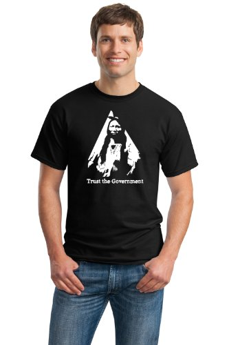 Trust The Government Adult Unisex T-Shirt / Libertarian Liberty Tea Party Native American Shirt - Size Xl,Black
